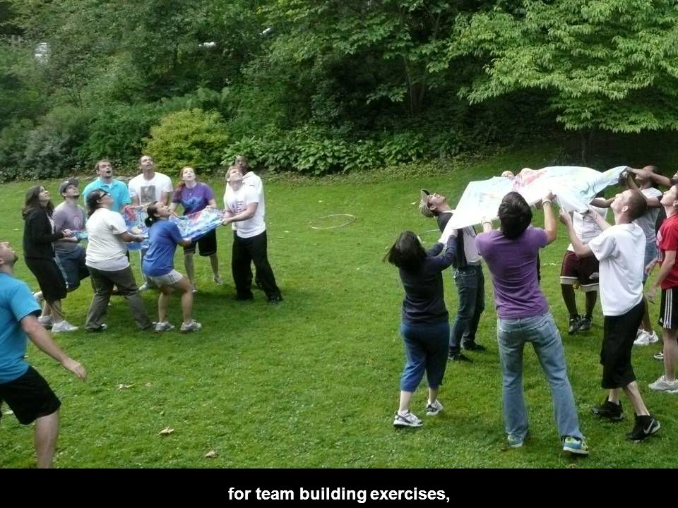 for team building exercises,