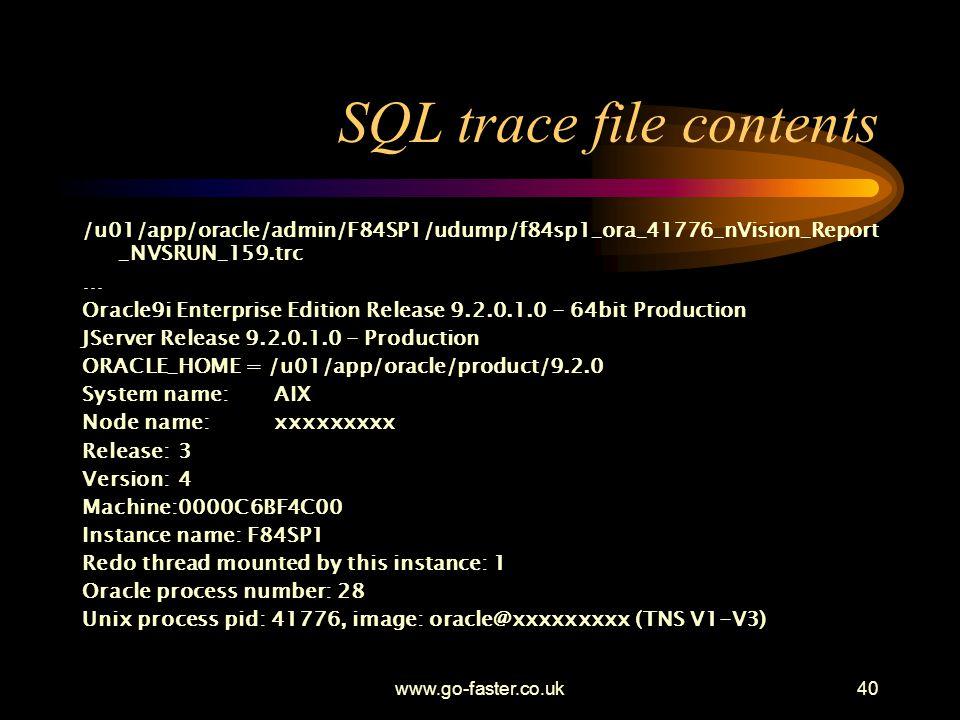 SQL trace file contents