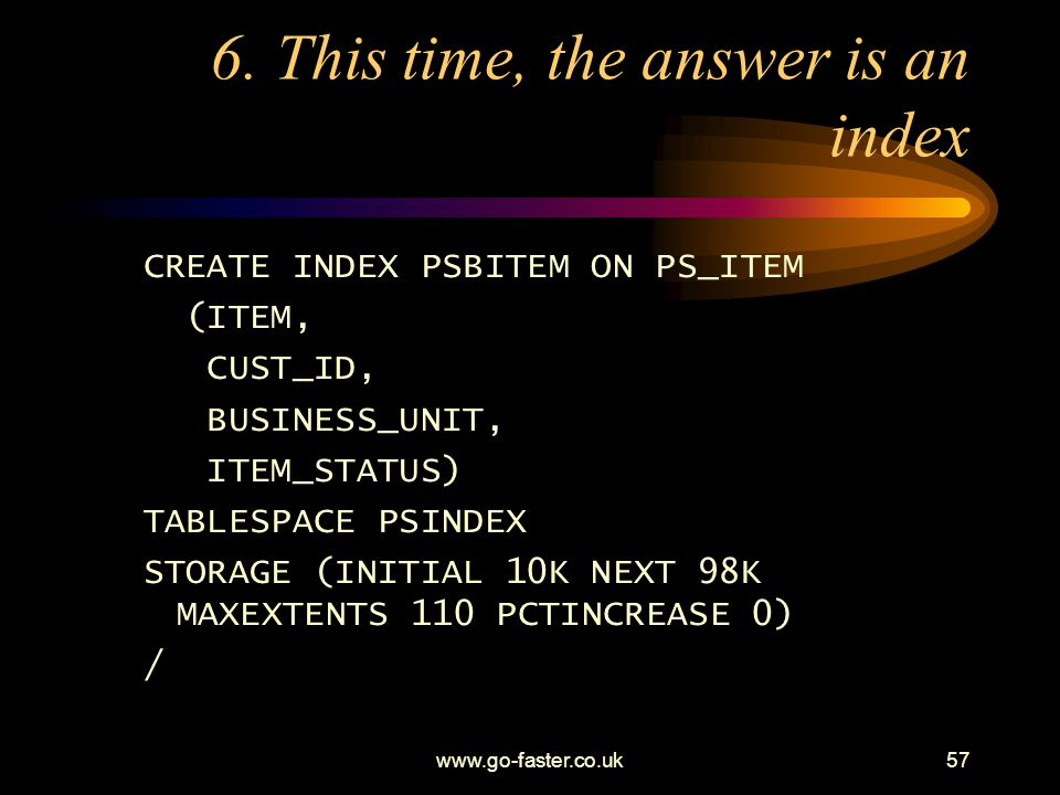 6. This time, the answer is an index