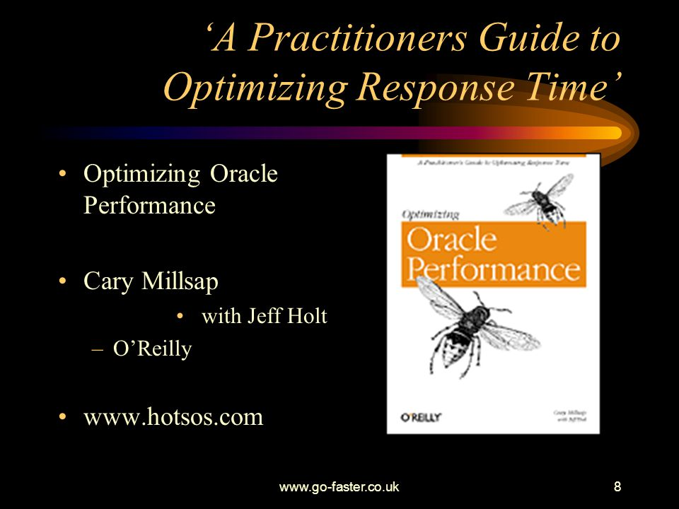'A Practitioners Guide to Optimizing Response Time'