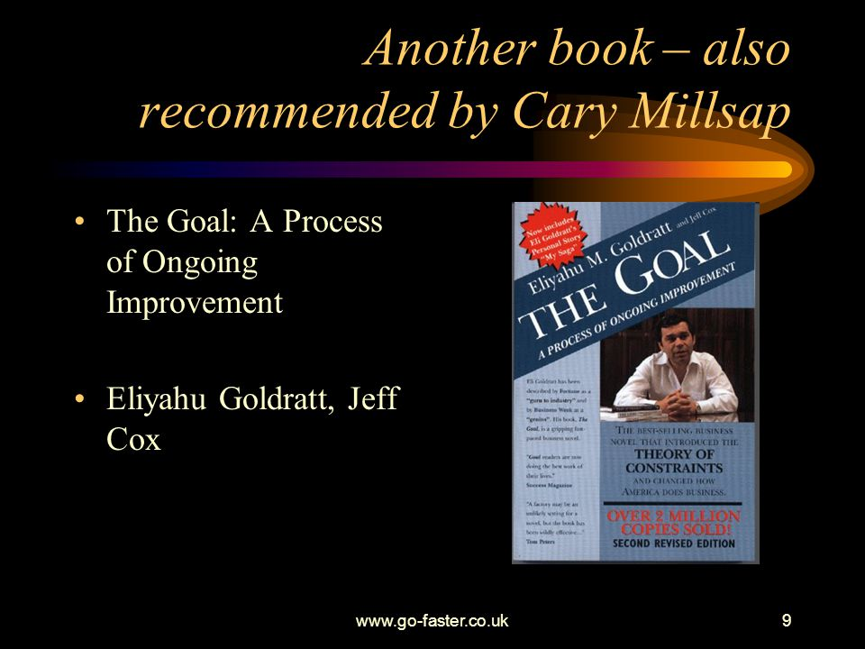 Another book – also recommended by Cary Millsap