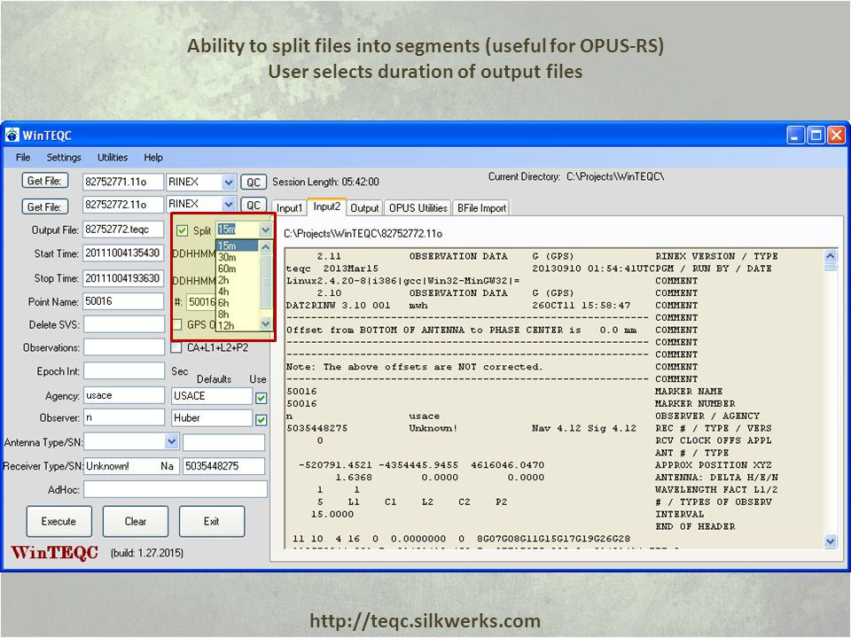 Ability to split files into segments (useful for OPUS-RS)