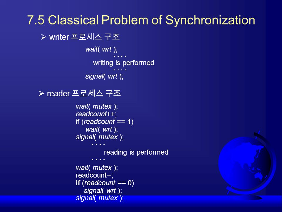 7.5 Classical Problem of Synchronization