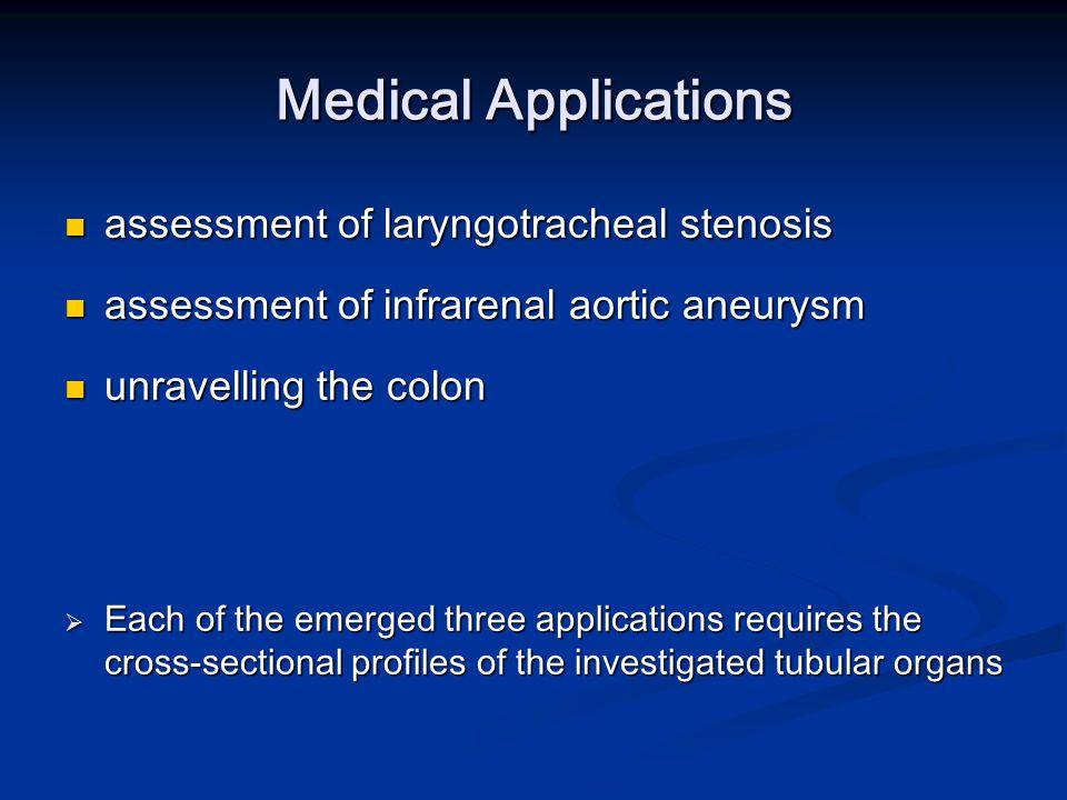 Medical Applications assessment of laryngotracheal stenosis