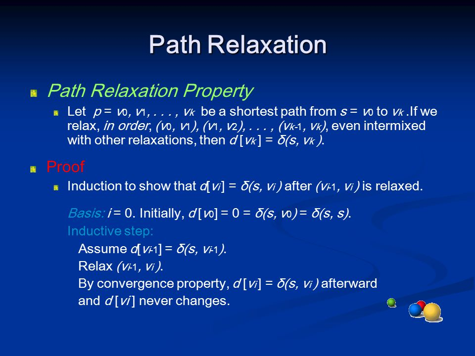 Path Relaxation Path Relaxation Property Proof