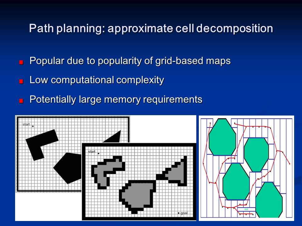 Path planning: approximate cell decomposition