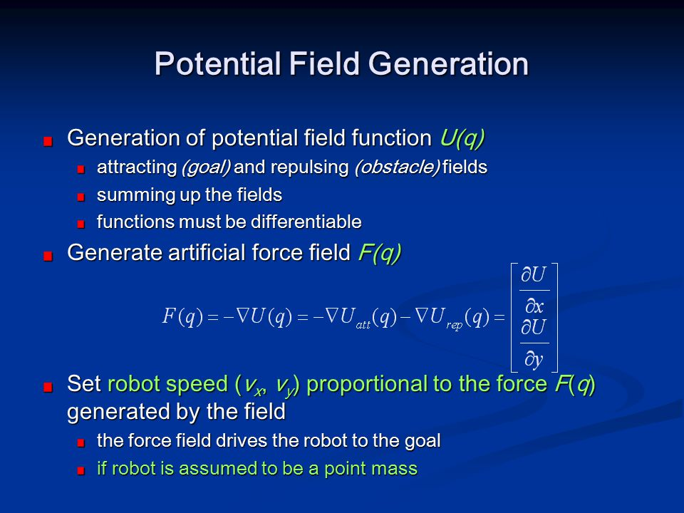 Potential Field Generation