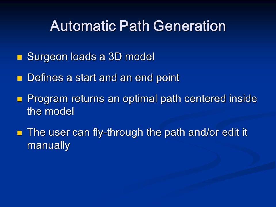 Automatic Path Generation