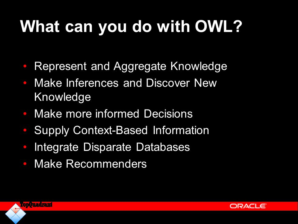 What can you do with OWL Represent and Aggregate Knowledge