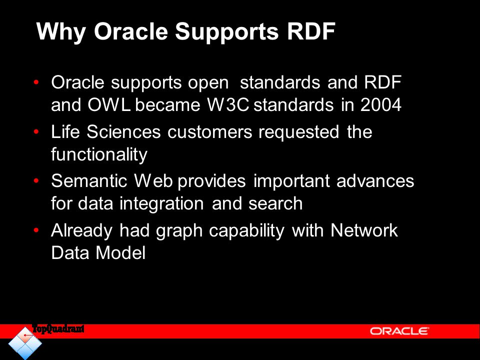 Why Oracle Supports RDF