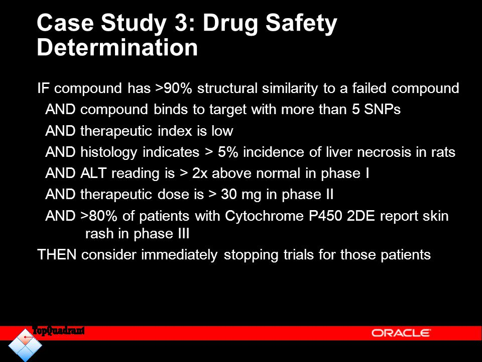 Case Study 3: Drug Safety Determination