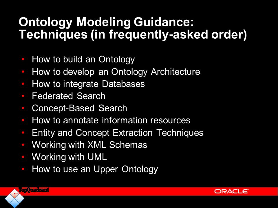 Ontology Modeling Guidance: Techniques (in frequently-asked order)