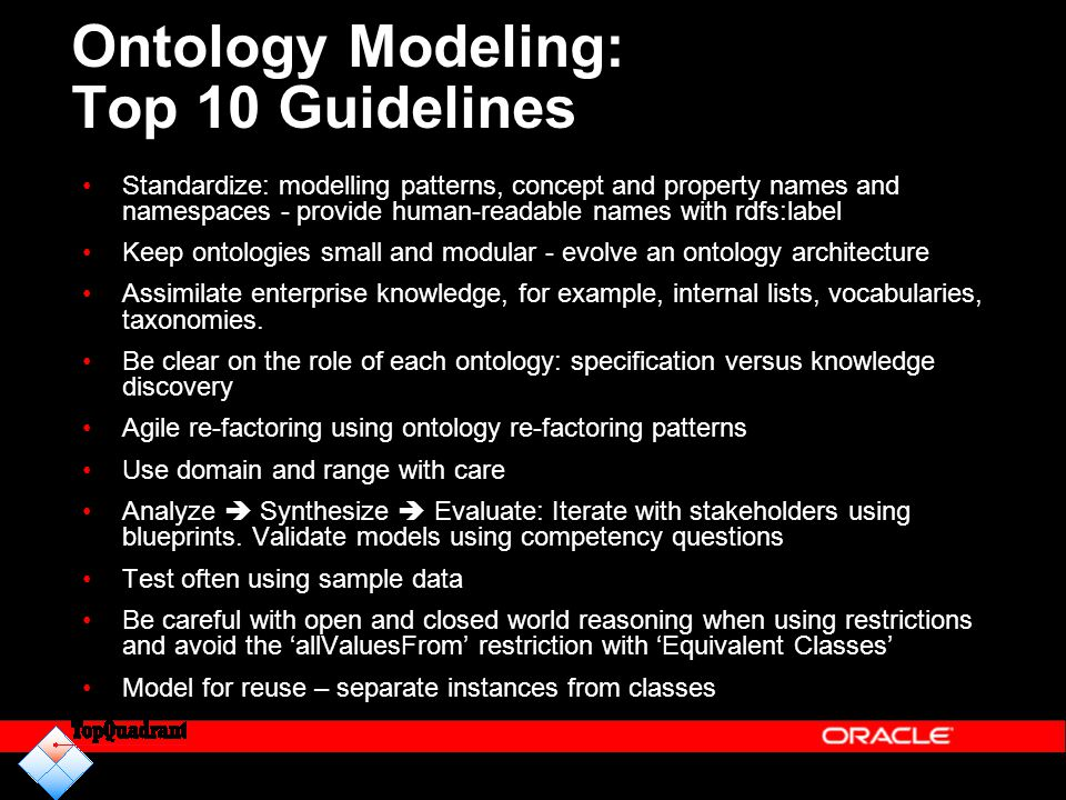 Ontology Modeling: Top 10 Guidelines