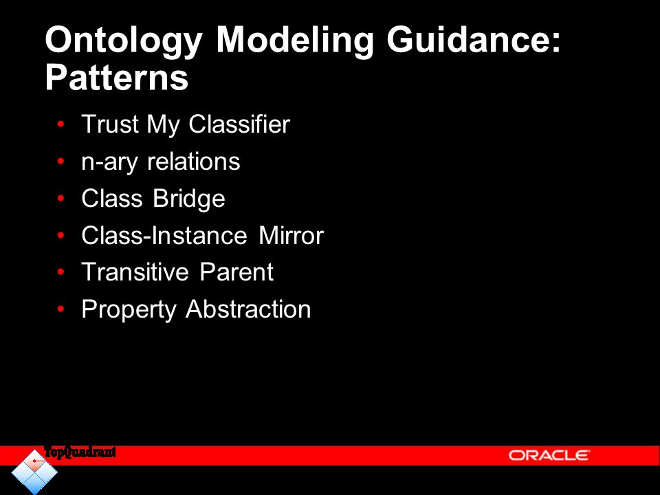 Ontology Modeling Guidance: Patterns