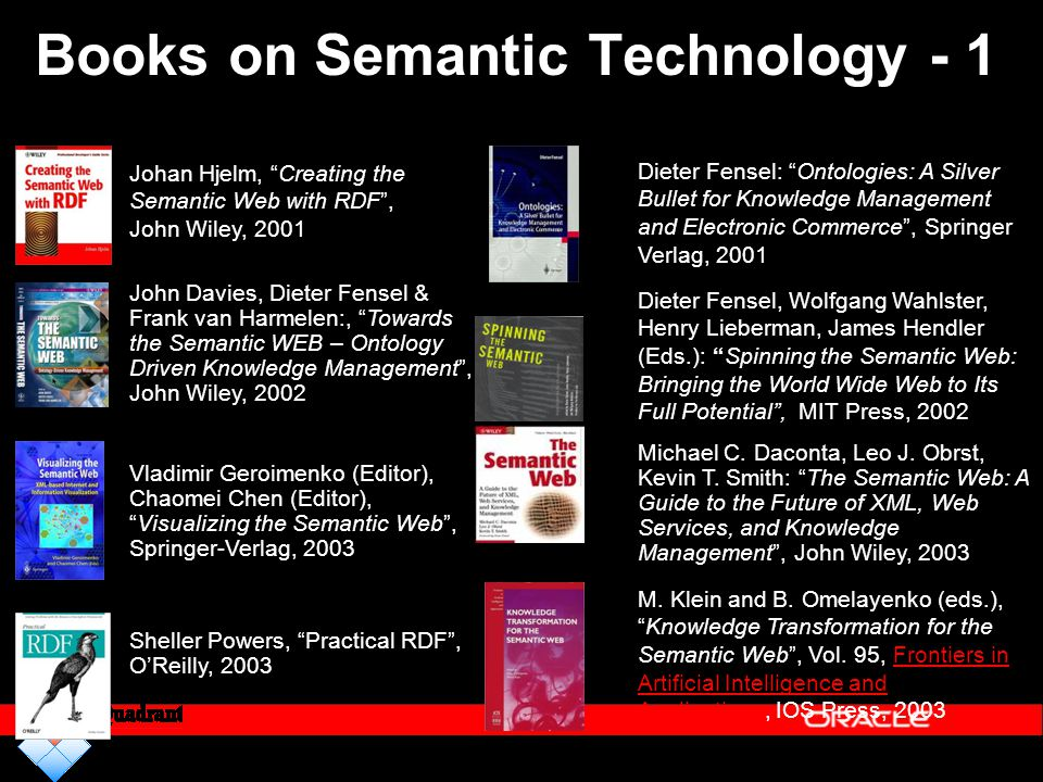 Books on Semantic Technology - 1