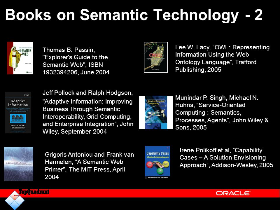 Books on Semantic Technology - 2