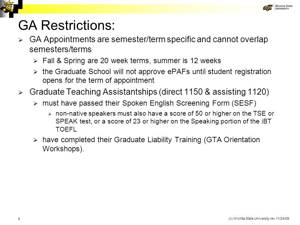 (c) Wichita State University rev.11/24/09