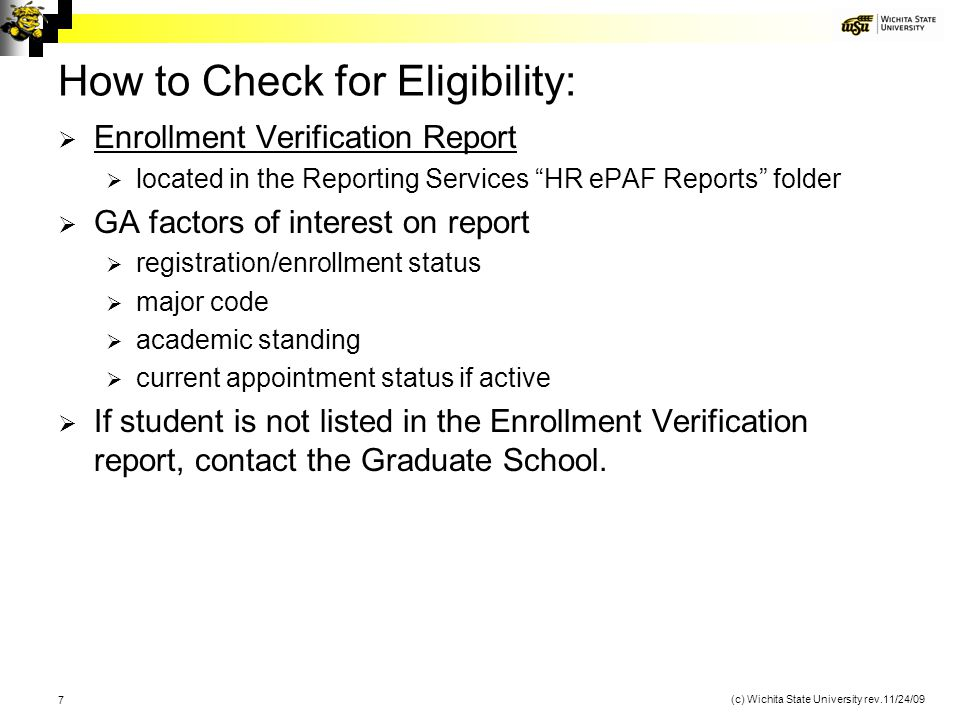 How to Check for Eligibility: