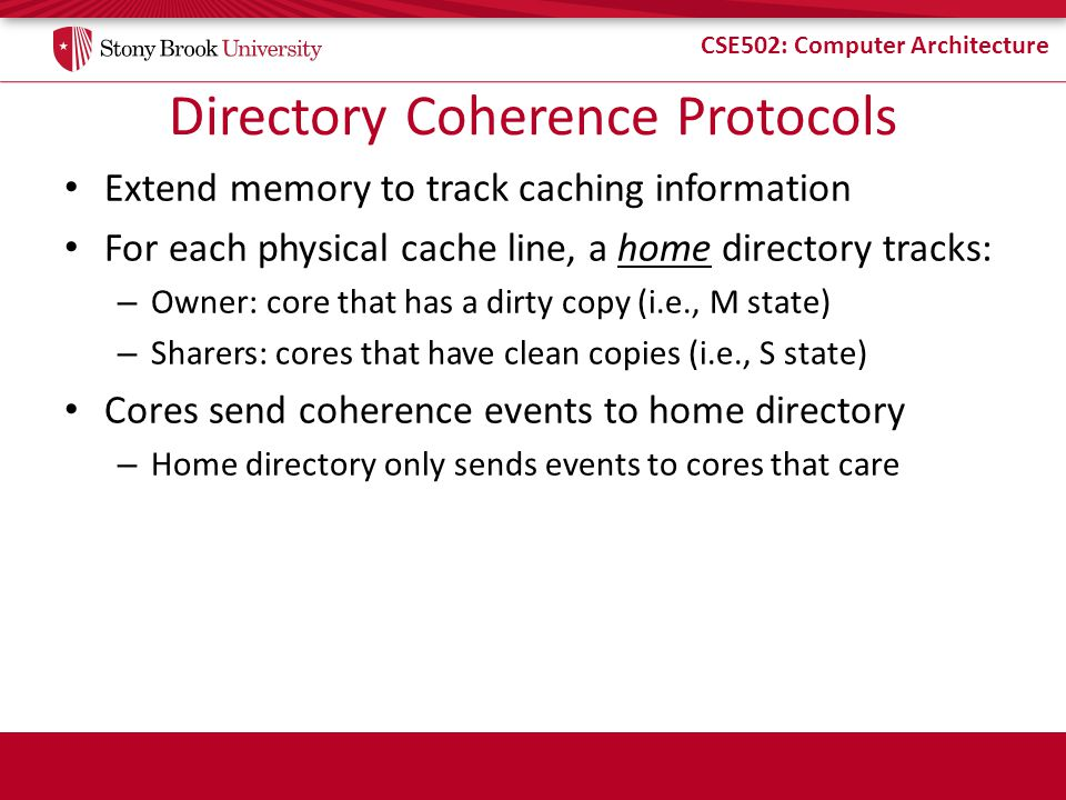 Directory Coherence Protocols