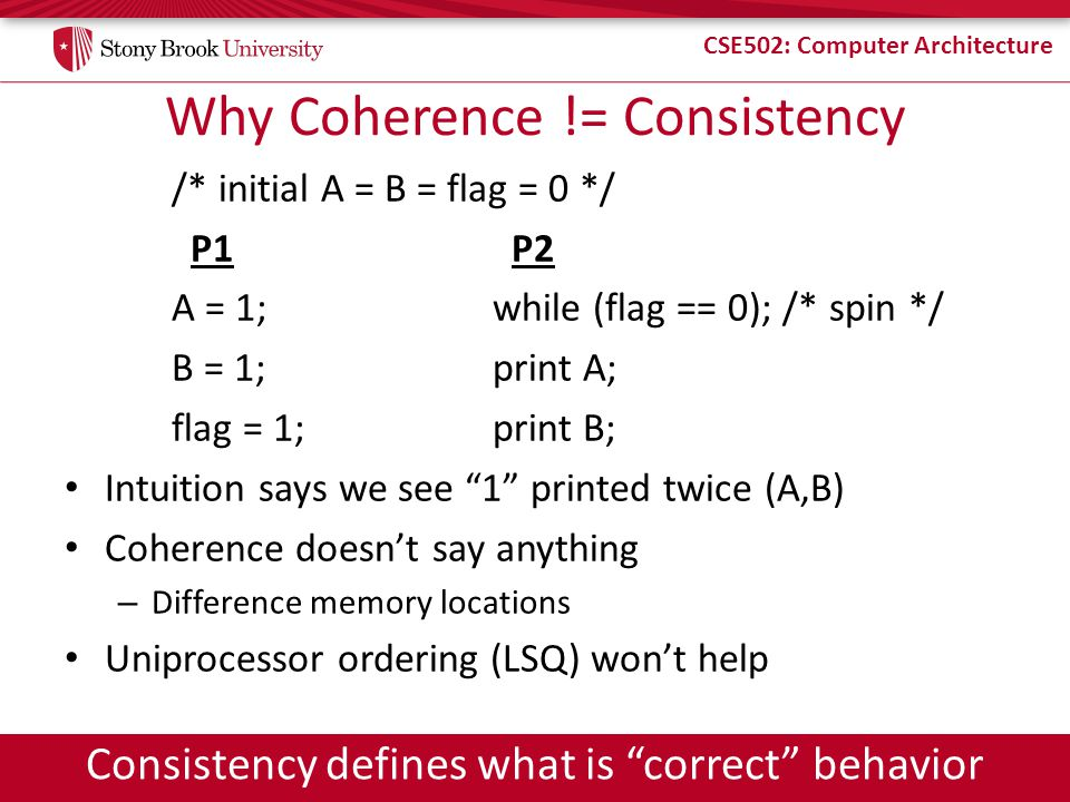 Why Coherence != Consistency