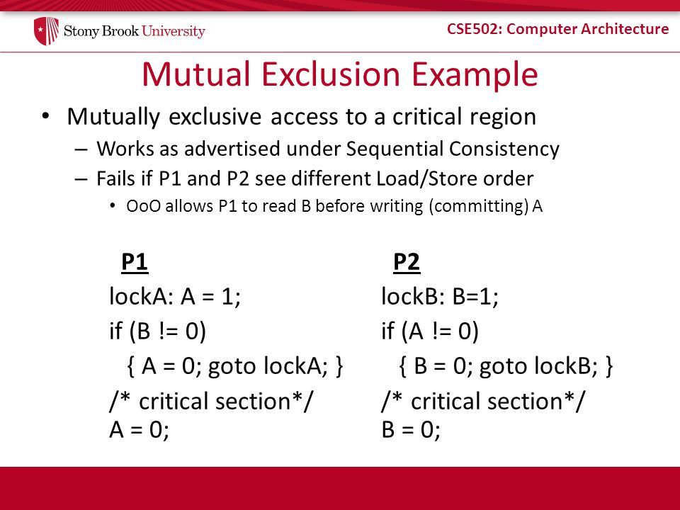 Mutual Exclusion Example