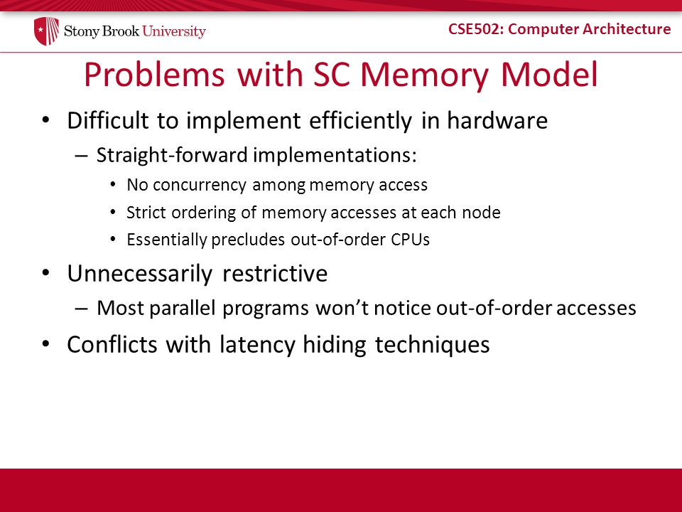 Problems with SC Memory Model