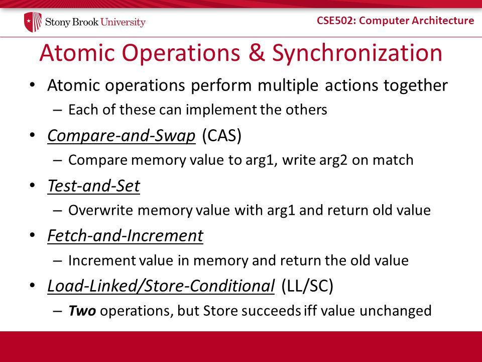 Atomic Operations & Synchronization