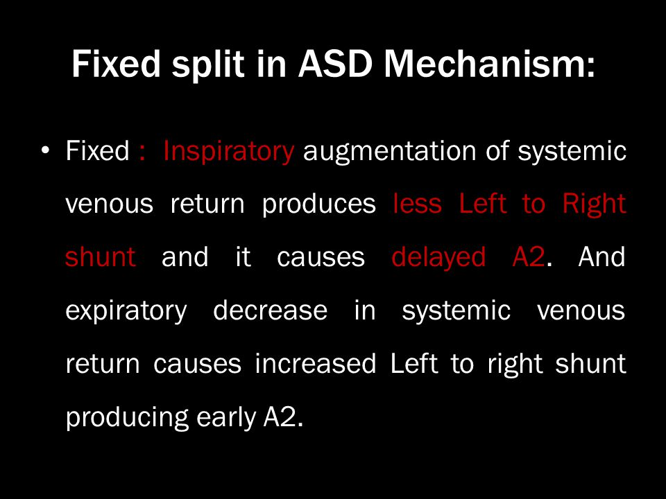 Fixed split in ASD Mechanism: