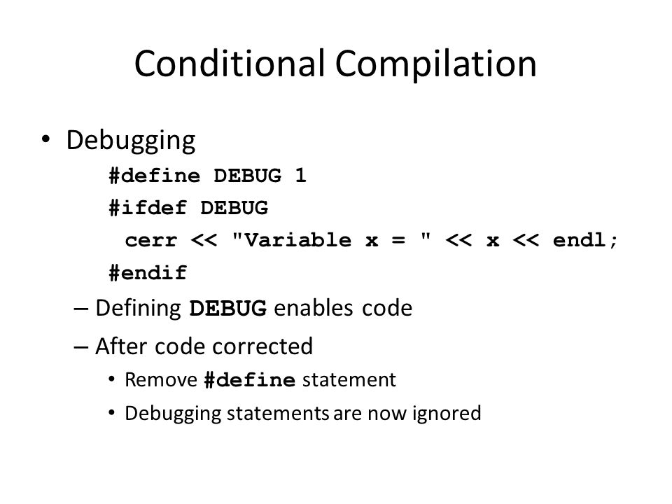 Conditional Compilation