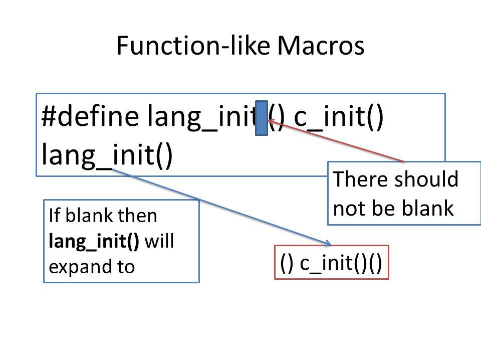 #define lang_init () c_init() lang_init()