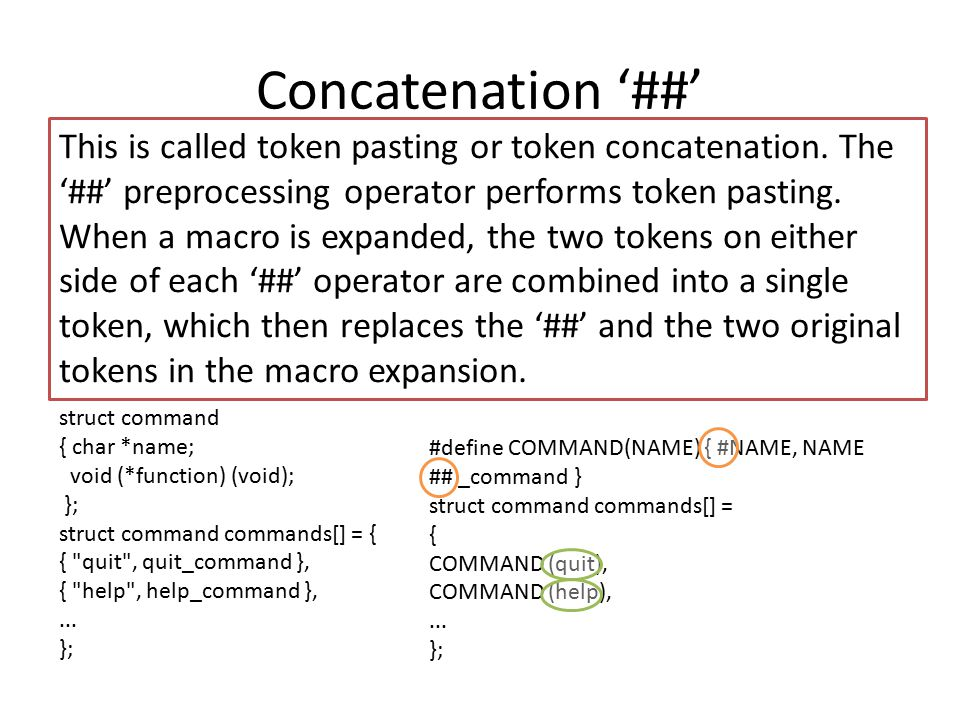 Concatenation '##'