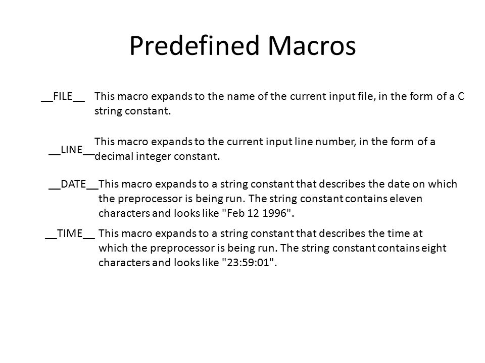 Predefined Macros __FILE__