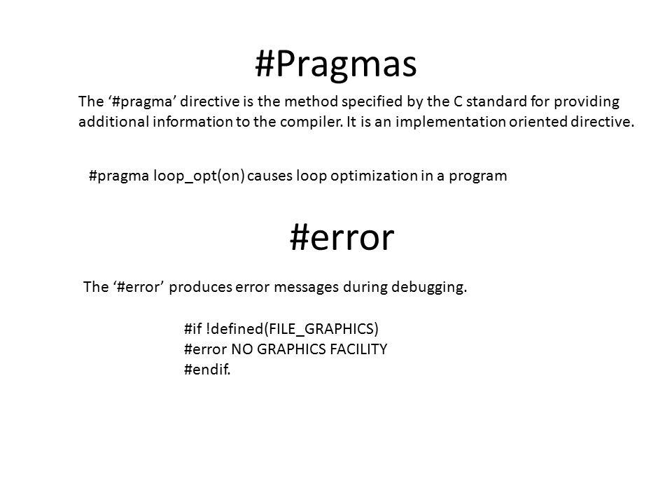 #Pragmas