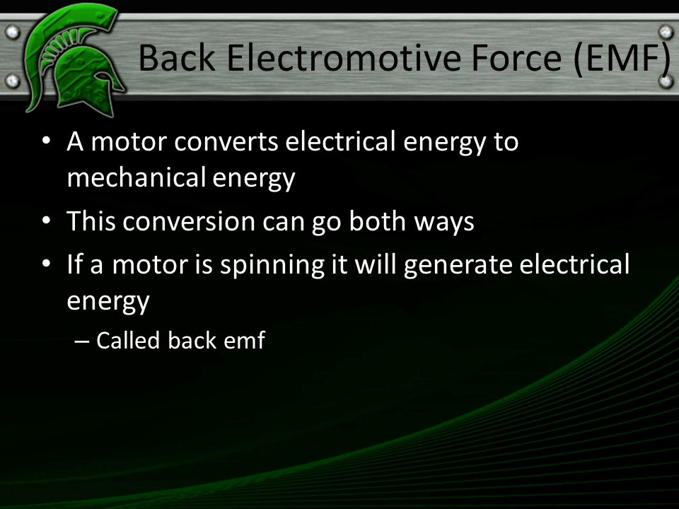 Back Electromotive Force (EMF)