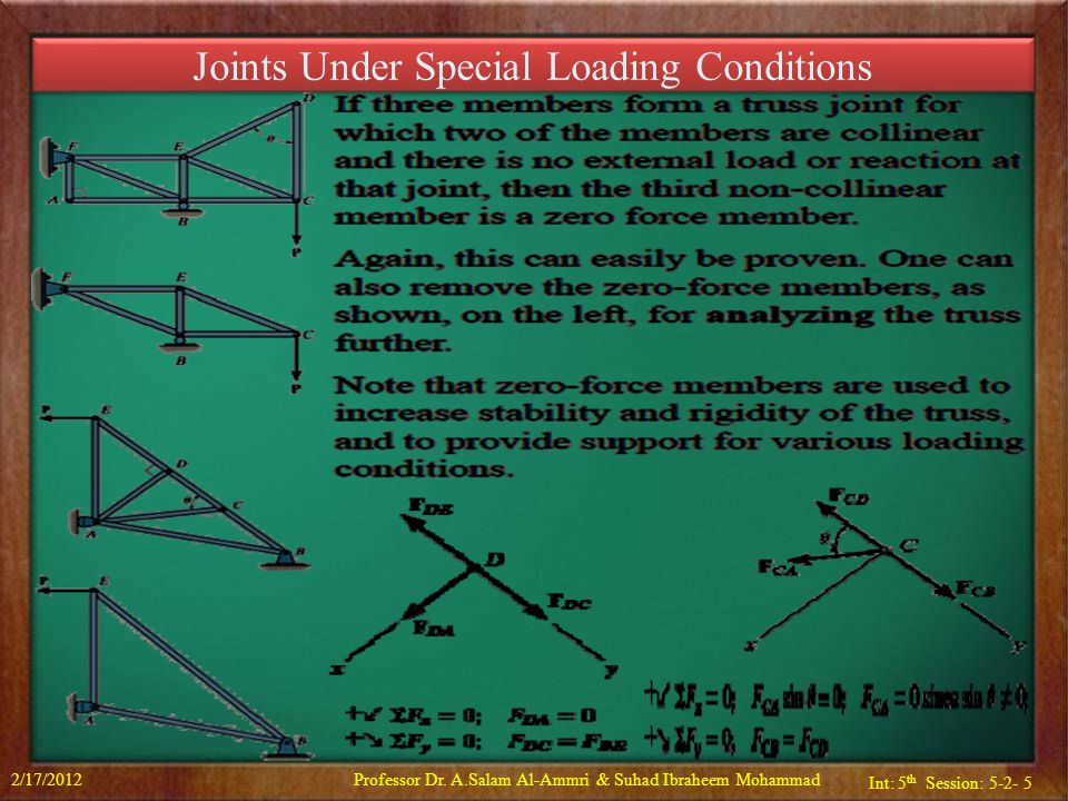 Joints Under Special Loading Conditions
