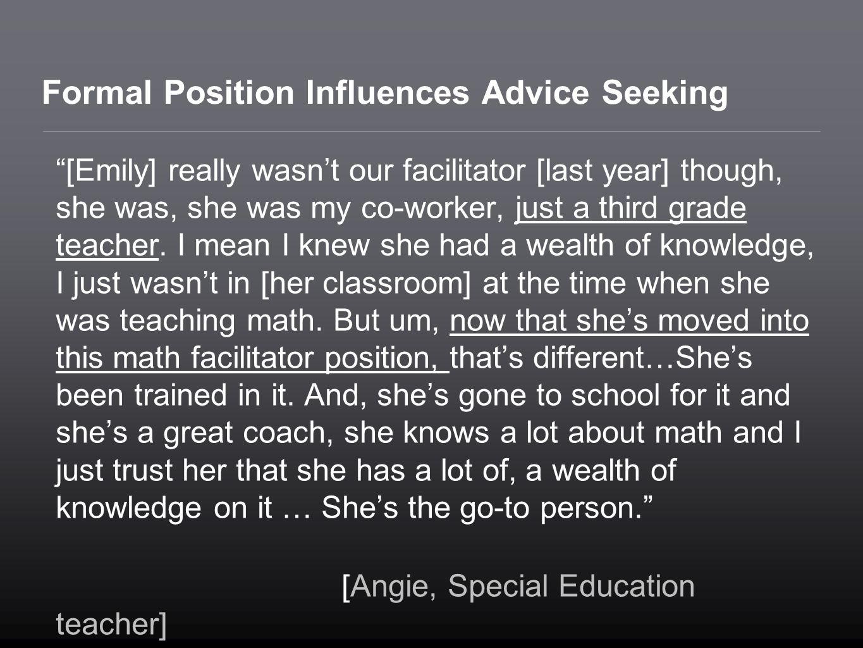 Formal Position Influences Advice Seeking