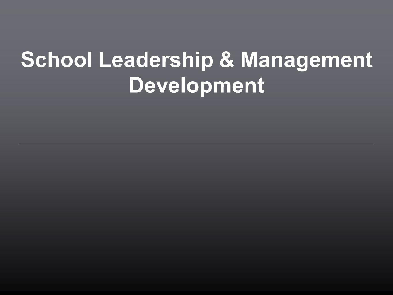 School Leadership & Management Development