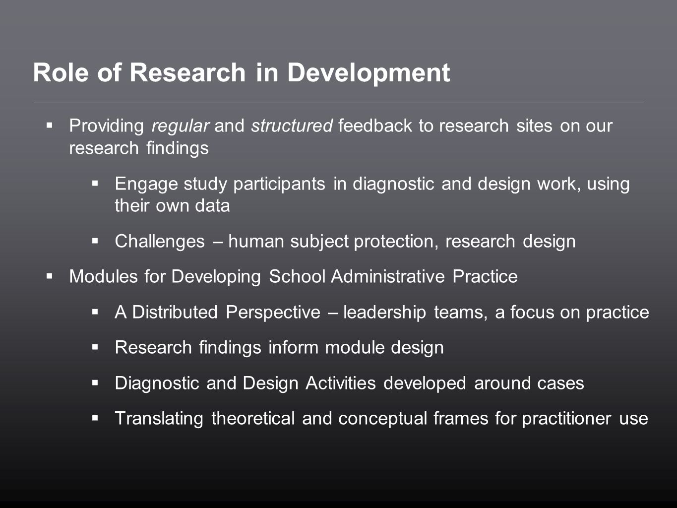 Role of Research in Development