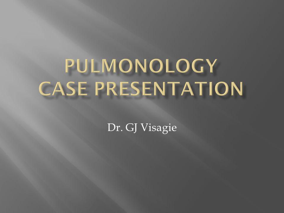 Pulmonology Case Presentation