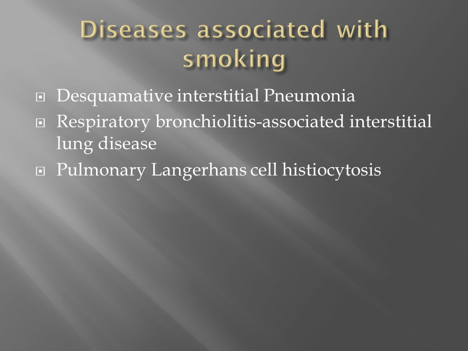 Diseases associated with smoking