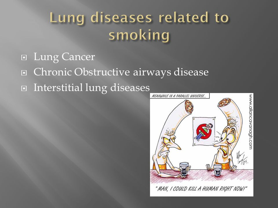 Lung diseases related to smoking