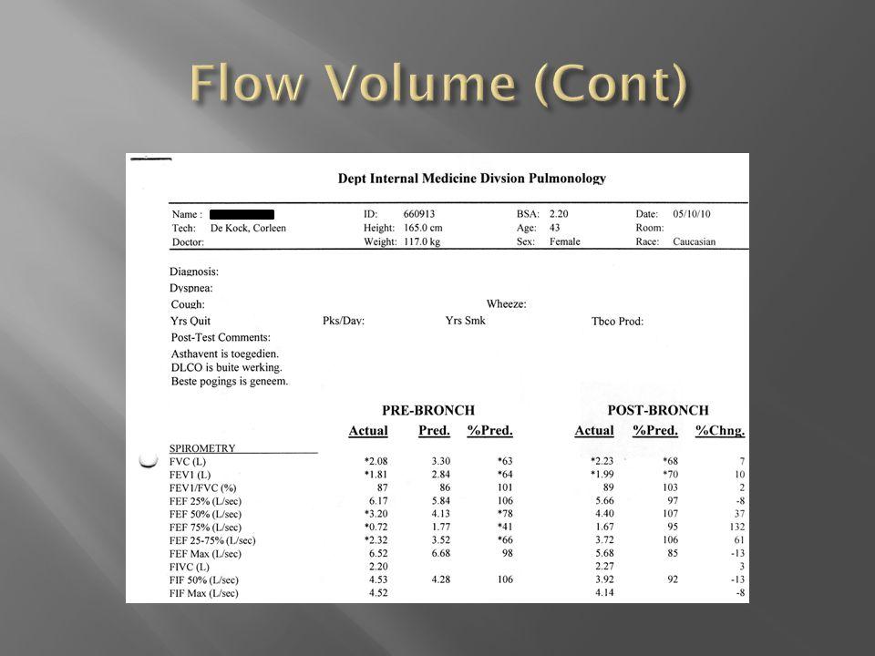 Flow Volume (Cont)