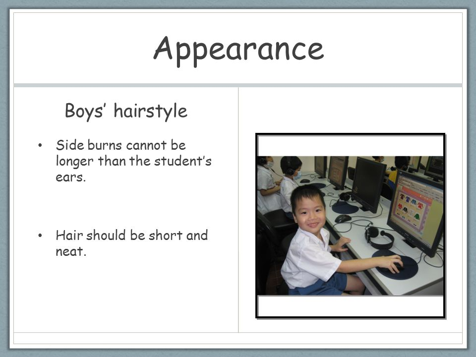 Appearance Boys' hairstyle