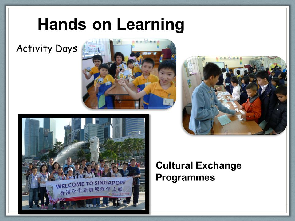 Hands on Learning Activity Days Cultural Exchange Programmes