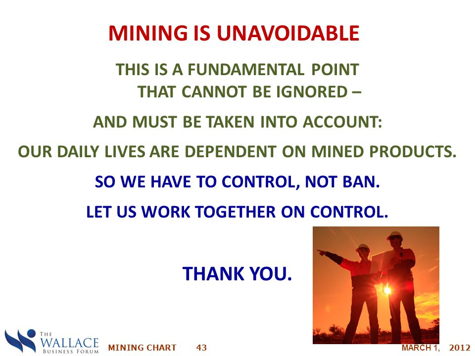 Mining is Unavoidable THANK YOU.