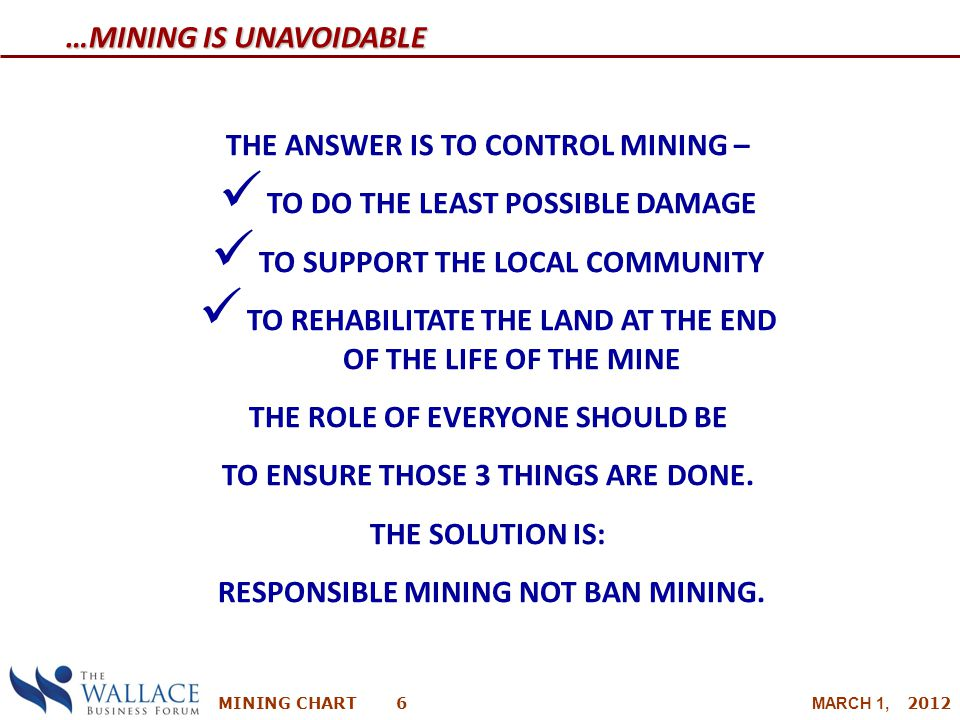 …Mining is Unavoidable
