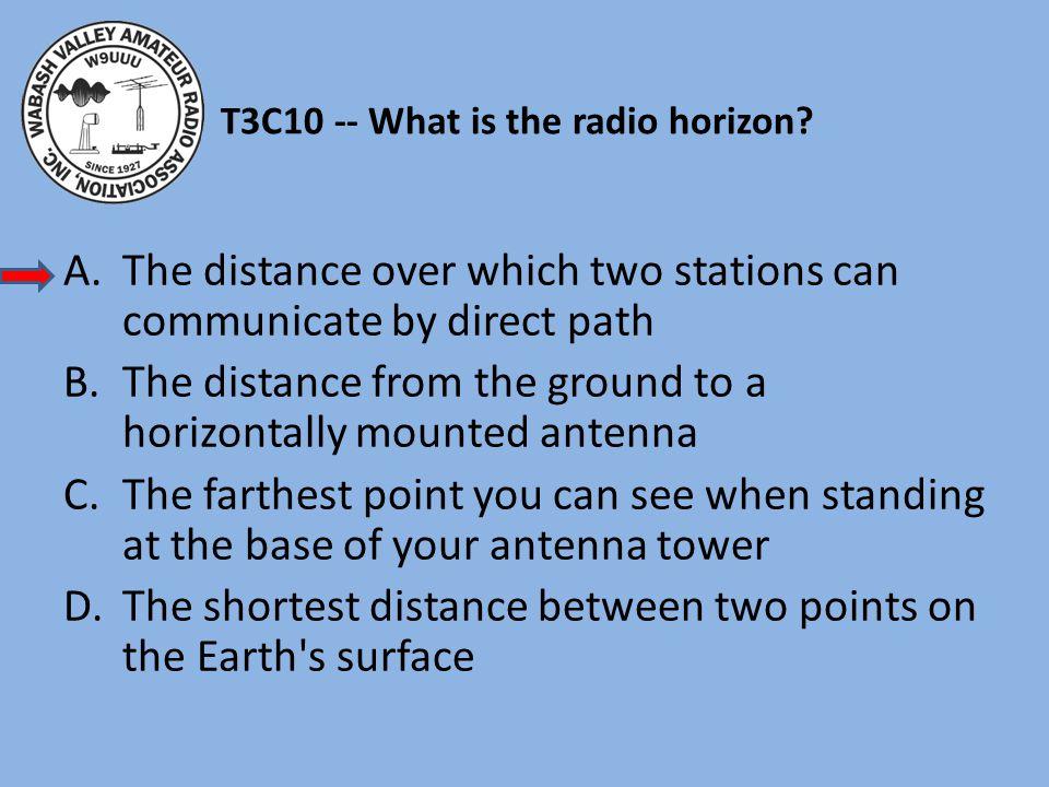 T3C10 -- What is the radio horizon