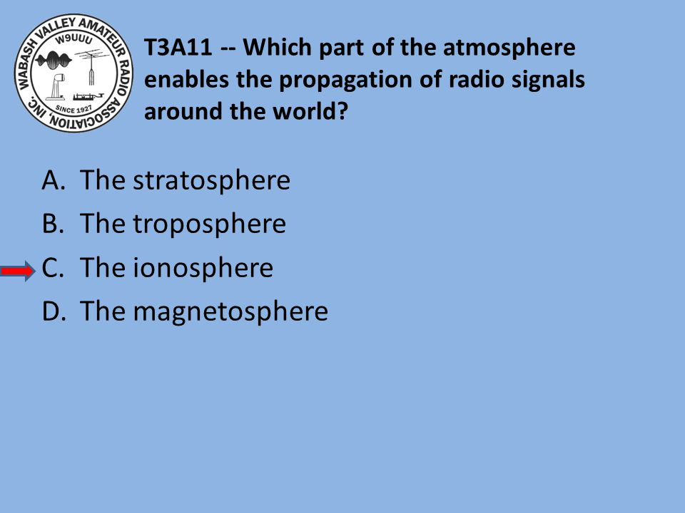 The stratosphere The troposphere The ionosphere The magnetosphere