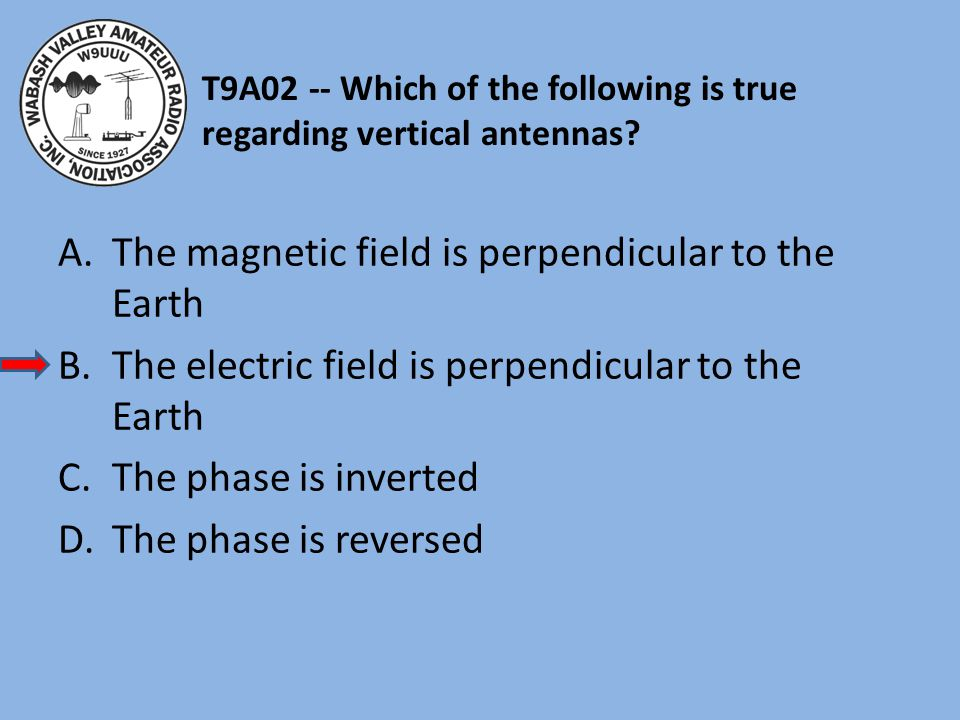 T9A02 -- Which of the following is true regarding vertical antennas