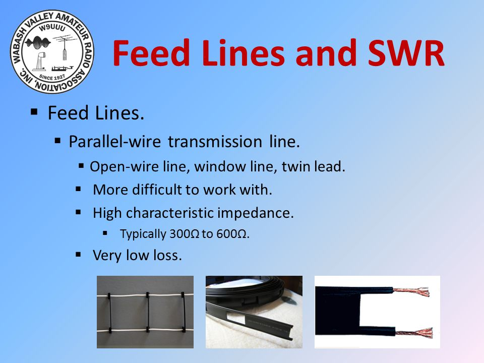 Feed Lines and SWR Feed Lines. Parallel-wire transmission line.